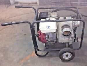 Tsurumi Ept3 100ha Honda Engine Powered 4 Trash Pump One Owner