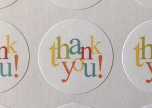 513 Thank You In Colors Envelope Seals Labels Stickers Celebrations Business