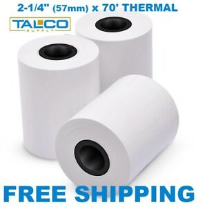 50 Clover Flex 2 1 4 X 70 Thermal Paper Rolls fast Free Shipping