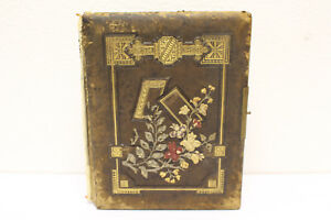 Rare Vintage Antique Victorian Photo Album Large And Full Of Pictures 1800 S