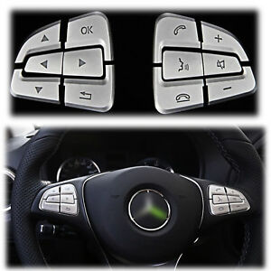 12pcs Steering Wheel Button Covers Trim For Mercedes Benz A B Class Gle Cls Gls