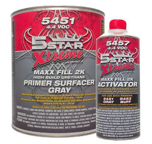 High Build 2k Urethane Gray Primer 5451 5 Star Auto Body Shop Car Paint Supplies