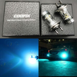New 2x H7 8000k Ice Blue 100w High Power Cree Led Fog Light Driving Bulb Drl
