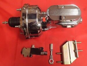 1964 1965 1966 Ford Mustang Chrome Brake Booster And Master Cylinder Chrome Pv4c