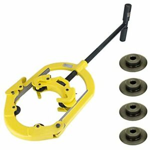 H8 Hinged 4 wheel 6 To 8 Pipe With Set Of Reed 03507 Cutter Wheels For Steel