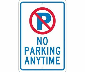 National Marker Tm33h No Parking Anytime Sign