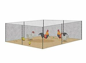 Mesh Galvanized Fence Wire Poultry Netting 36 wx24ftl Plants Supporting Fence