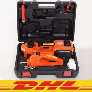 3 In 1 Electric Hydraulic Jack Lift Car Impact Wrench And Air Compressor Dhl