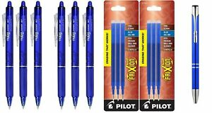 Pilot Frixion Clicker Retractable Erasable Gel Pens Fine Point Blue Ink New