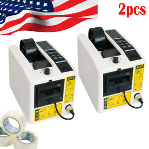 2 Automatic Tape Dispensers Adhesive Cutter Cut Packaging Machine Adjust Length