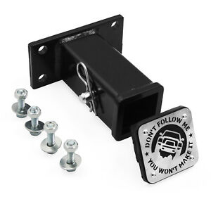 Dodge Ram Front Tow Hook 2 Receiver Hitch Truck Bumper 2 Tube With Cover