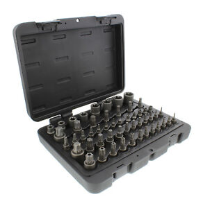 Abn Star Torx Bit Socket 52 Piece Set Sae 1 4 3 8 1 2 Inch 4 Point Square Drive