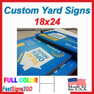 10 18x24 Yard Signs Custom Double Sided Full Color