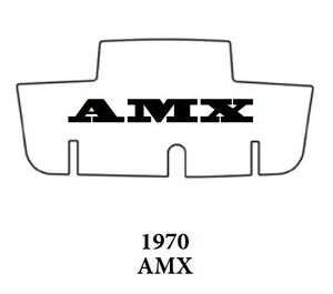 1970 Amc Javelin Trunk Rubber Floor Mat Cover With A 070 Amx