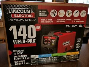 Lincoln Electric 140 Amp Weld Pak 140 Hd Mig Wire Feed Welder New In Sealed Box