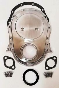 Polished Aluminum Big Block Chevy Timing Chain Cover Kit Bbc 396 402 427 454