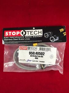 Stoptech Stainless Steel Rear Brake Line 03 15 Honda Accord 11 15 Crz 950 40502