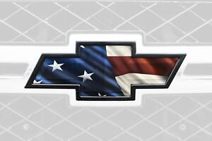 Tailgate Decal Overlay Front Bowtie Us Flag Grill Silverado For Chevrolet Emblem