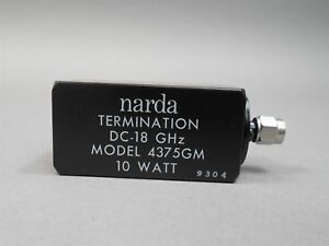 Narda 4375gm Dc To 18 Ghz m Sma Coaxial 10 W Termination
