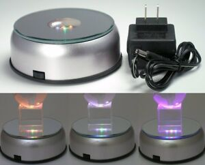 Solar Display Rotating Stand Turntable Rotary Light Led Battery Loading Top Sale