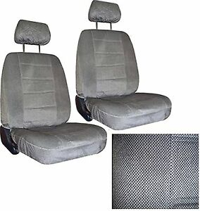 2 Gray Grey Regal Car Truck Low Back Bucket Seat Covers W Head Rests Sc 40 120