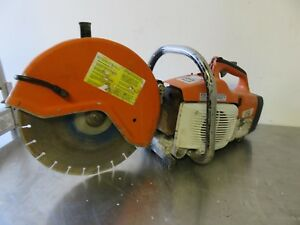 Stihl Ts400 14 Concrete Saw_ Running With Smoke Sell As is For Part Or Rebuild
