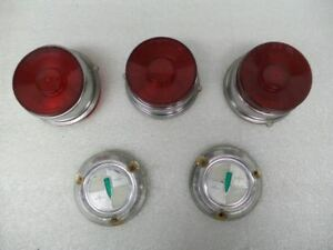 Tail Lamp Lens Partial Set With Backup Light Plugs Vintage Fits 1959 Edsel 16790