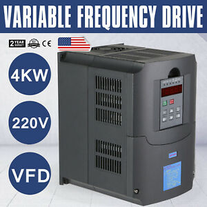 Updated 4kw 5hp 220v Variable Frequency Drive Inverter Cnc Vfd Vsd High Quality