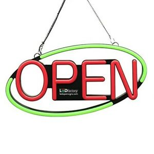Hanging Storefront Shop Open Sign Multi function Control Led Light Signage New