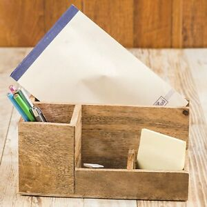 Rusticity Wooden Desk Organizer paper Tray letter Sorter document Holder mango