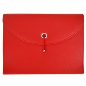 Pu Leather Expanding File Portable Accordion Document Folder Organizer Red