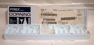 Set 12 Corning 5640 10 Pyrex 10ml Class A Volumetric Flask W glass st Stopper