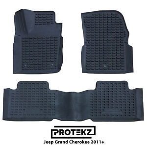 Protekz Custom Fit 3d Rubber All Weather Car Floor Mats For Jeep Grand Cherokee