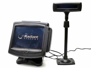 Radiant P1220 12 Touchscreen Pos Msr Terminal System 1gb Ram p703 Pole Display