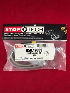 Stoptech Stainless Steel Front Brake Line 89 98 240sx S13 S14 Silvia 950 42009