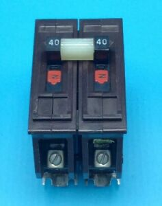 Circuit Breaker Wadsworth A240 40 Amp 2 Pole 120 240v Metal Tabs Plug In