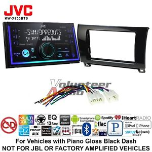 Jvc Kw X830bts Double Din Media Player Car Radio Install Kit Bluetooth No Cd