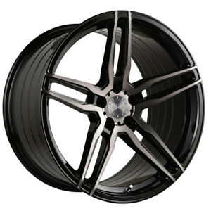 20 Vertini Rf1 6 Forged Black Concave Wheels Rims Fits Ford Mustang Gt Gt500