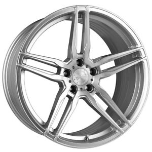 20 Vertini Rf1 6 Forged Silver Concave Wheels Rims Fits Ford Mustang Gt Gt500