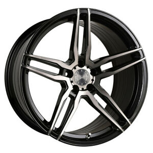 20 Vertini Rf1 6 Forged Black Concave Wheels Rims Fits Jaguar Xkr