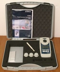 Lovibond Orbeco Sc450 Colorimeter Silica Set W Carrying Case