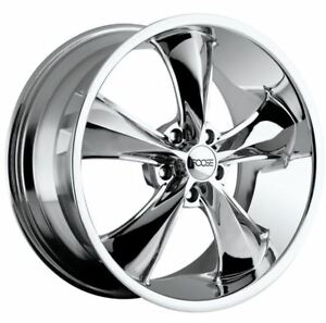 17x9 Foose F105 5x4 75 Et07 Chrome Rims Set Of 4