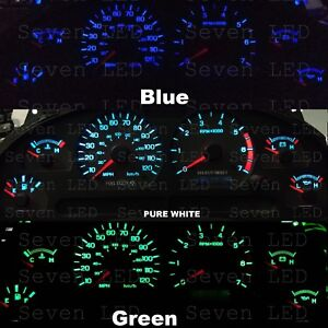 Ford Mustang 99 04 Instrument Cluster Gauge Climate Control Led Kit