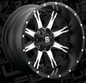 Fuel Nutz D541 22x12 8x180 Et 44 Black Machined Rims set Of 4