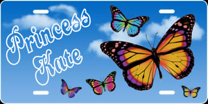 Personalized Butterfly License Plate Custom Butterflies Auto License Plate