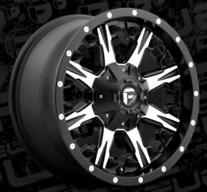 Fuel Nutz D541 18x9 6x135 6x5 5 Et1 Black Machined Rims set Of 4