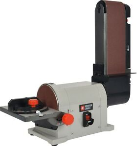 Belt Disc Sander Combo 5-Amp Bench Top Grinder Bevel Wood Work Shop Sanding Disc