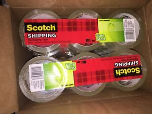 18 Roll 3m Scotch Sure Start Shipping Packing Tape 1 88 X 43 7 Yard Clear 3450
