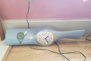 Vintage Metal Airplane Propeller Clock Antique Old Aviation Plane Clocks