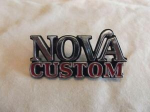 Vintage Nova Custom Fender Trunk Emblem Part 352589 Oem Nos